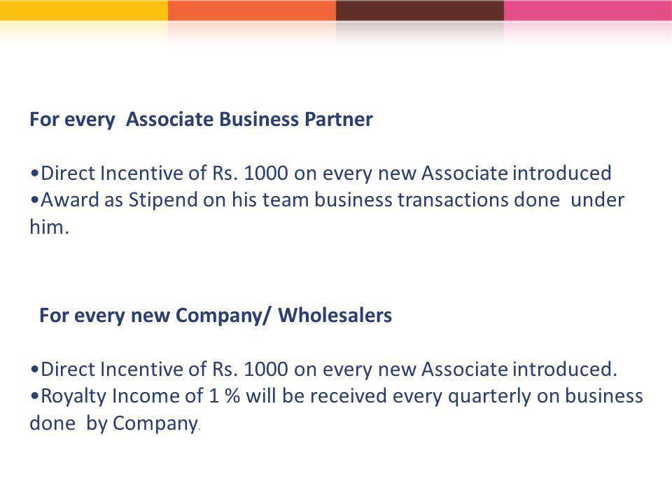 For every Associate Business Partner