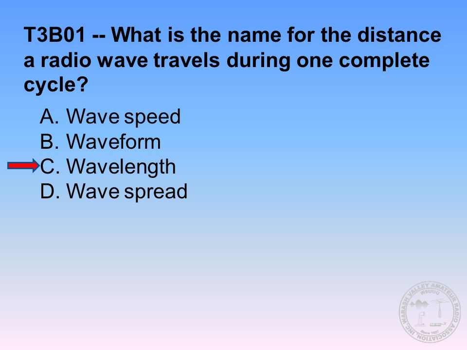 T3B01 -- What is the name for the distance a radio wave travels during one complete cycle