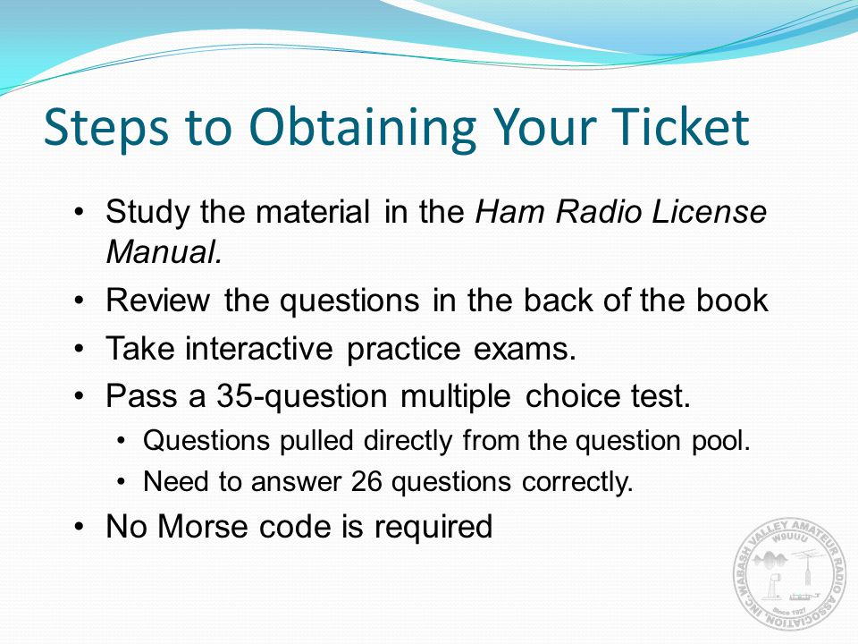 Steps to Obtaining Your Ticket
