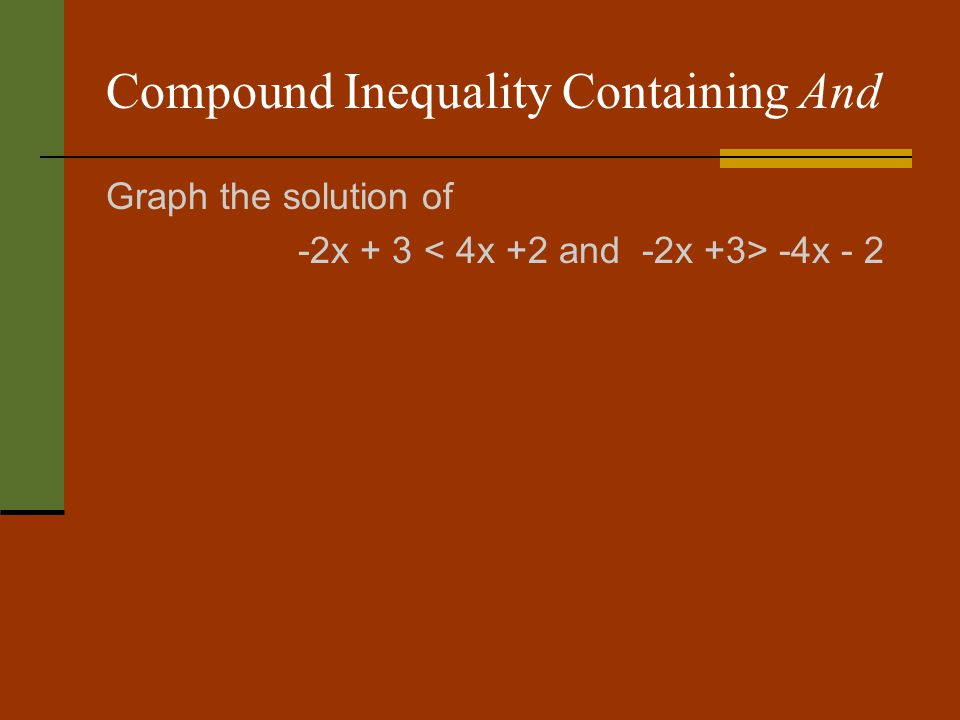 Compound Inequality Containing And