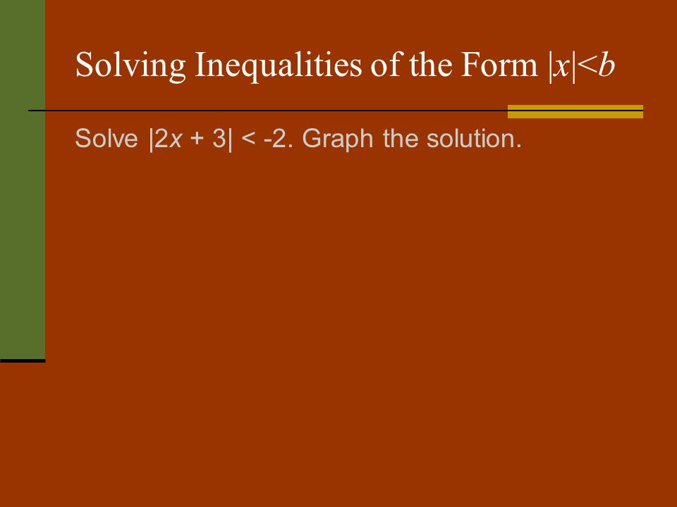 Solving Inequalities of the Form |x|<b