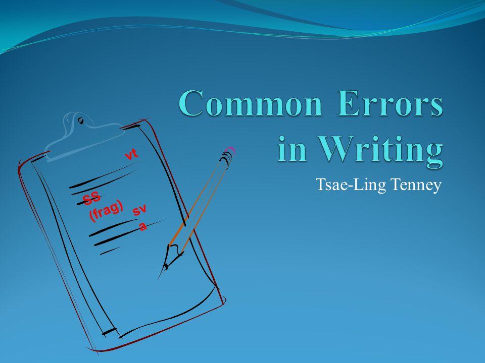 Common Errors in Writing