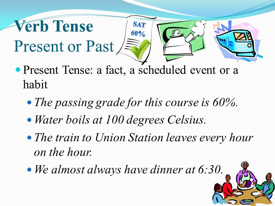 Verb Tense Present or Past