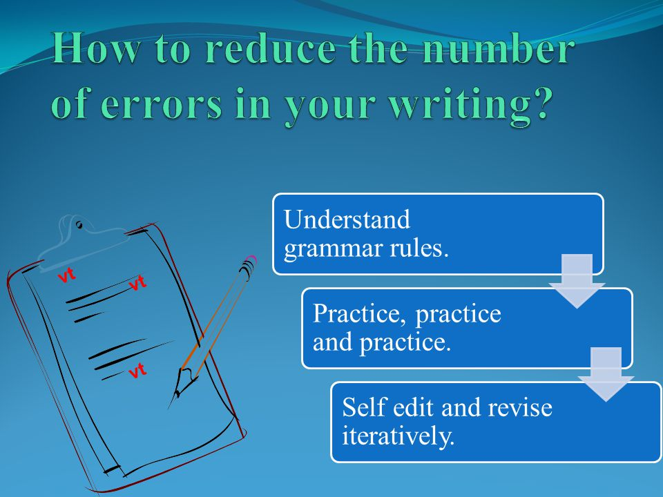 How to reduce the number of errors in your writing