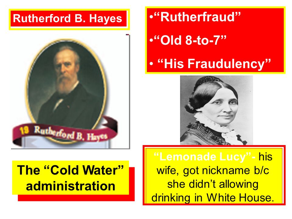 The Cold Water administration