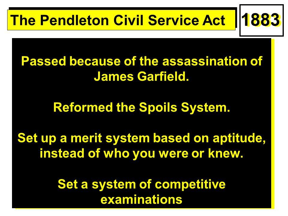1883 The Pendleton Civil Service Act