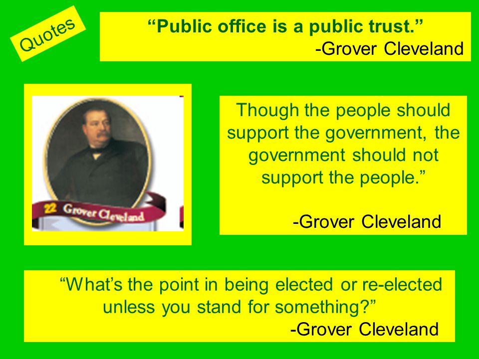 Public office is a public trust.