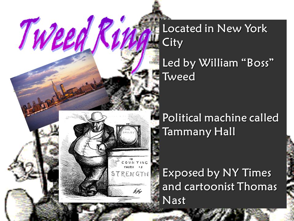 Tweed Ring Located in New York City Led by William Boss Tweed