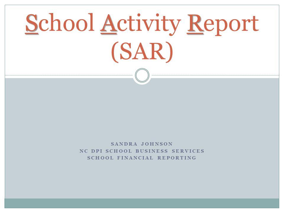 School Activity Report (SAR)