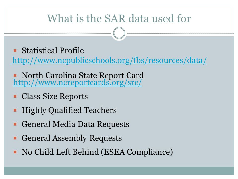 What is the SAR data used for