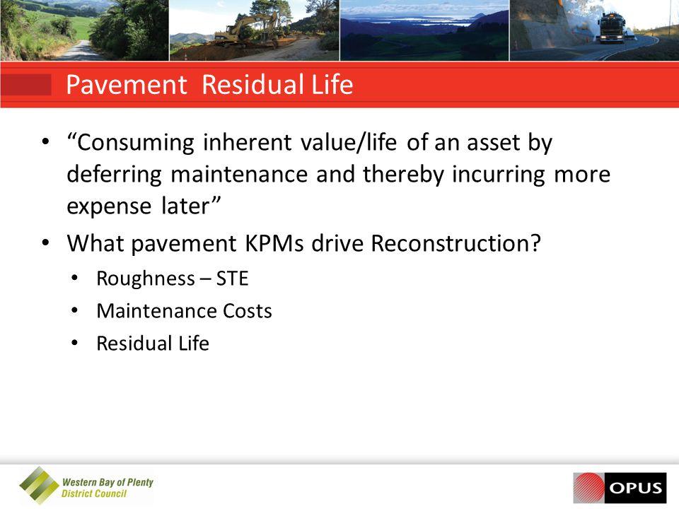 Pavement Residual Life