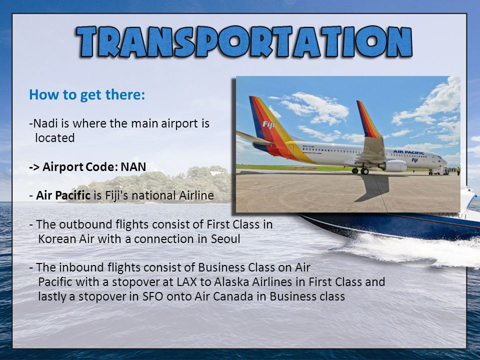 How to get there: Nadi is where the main airport is located