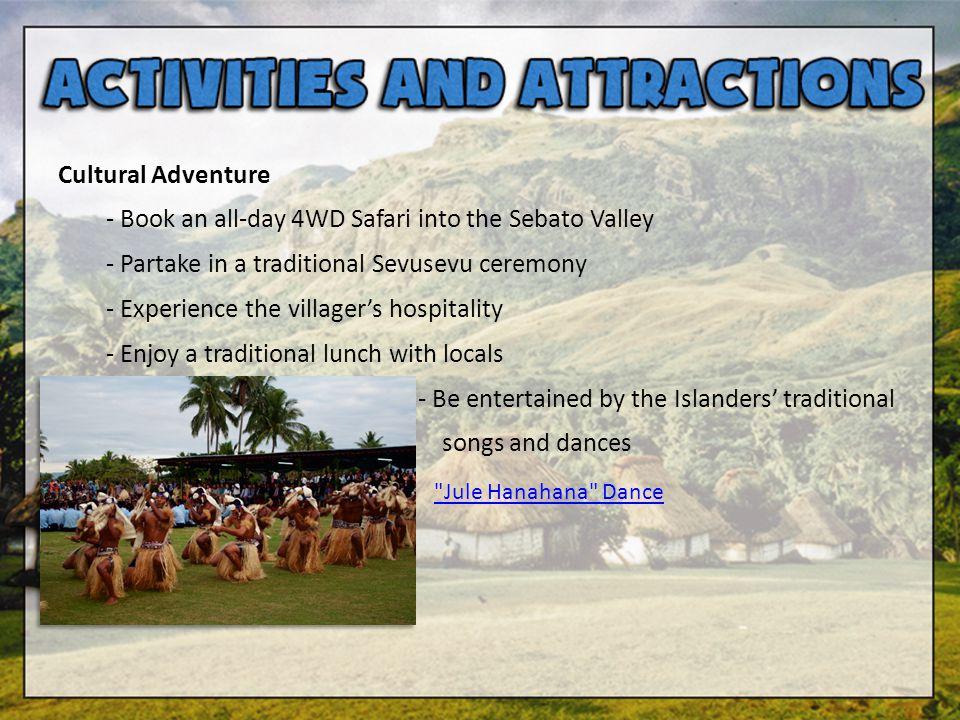 - Book an all-day 4WD Safari into the Sebato Valley