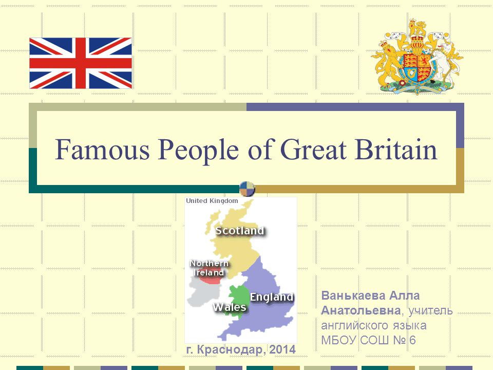 Famous People of Great Britain