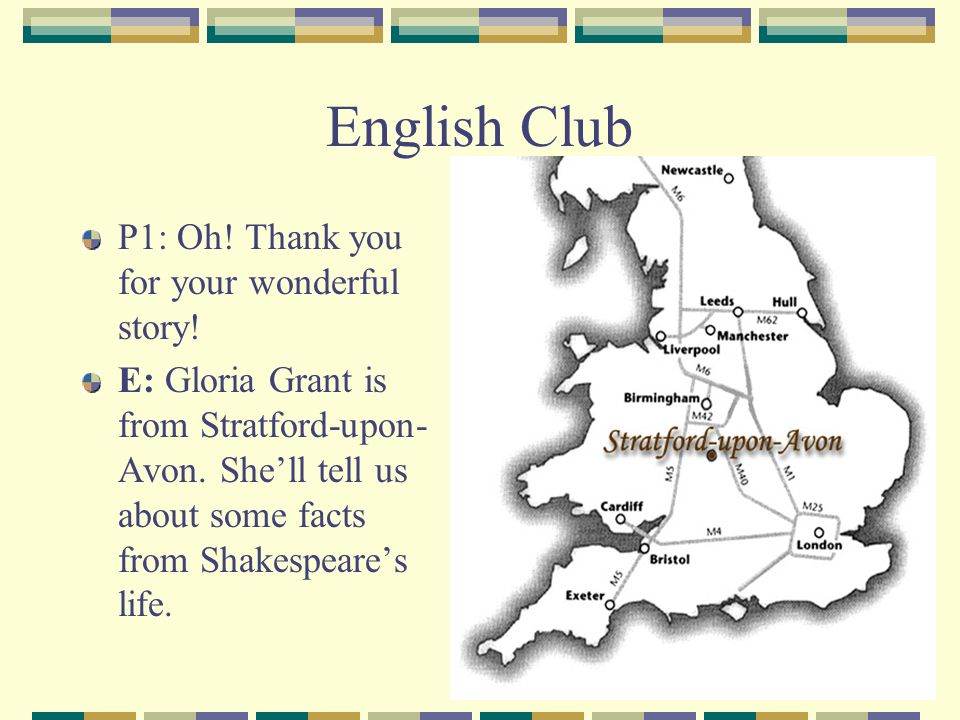English Club P1: Oh! Thank you for your wonderful story!