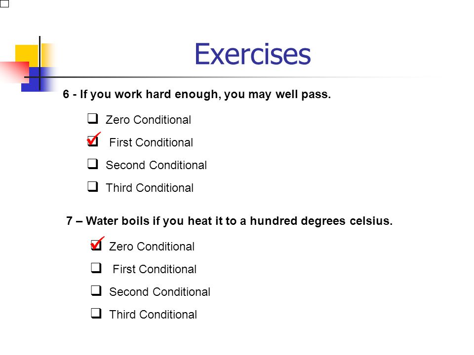 Exercises   6 - If you work hard enough, you may well pass.