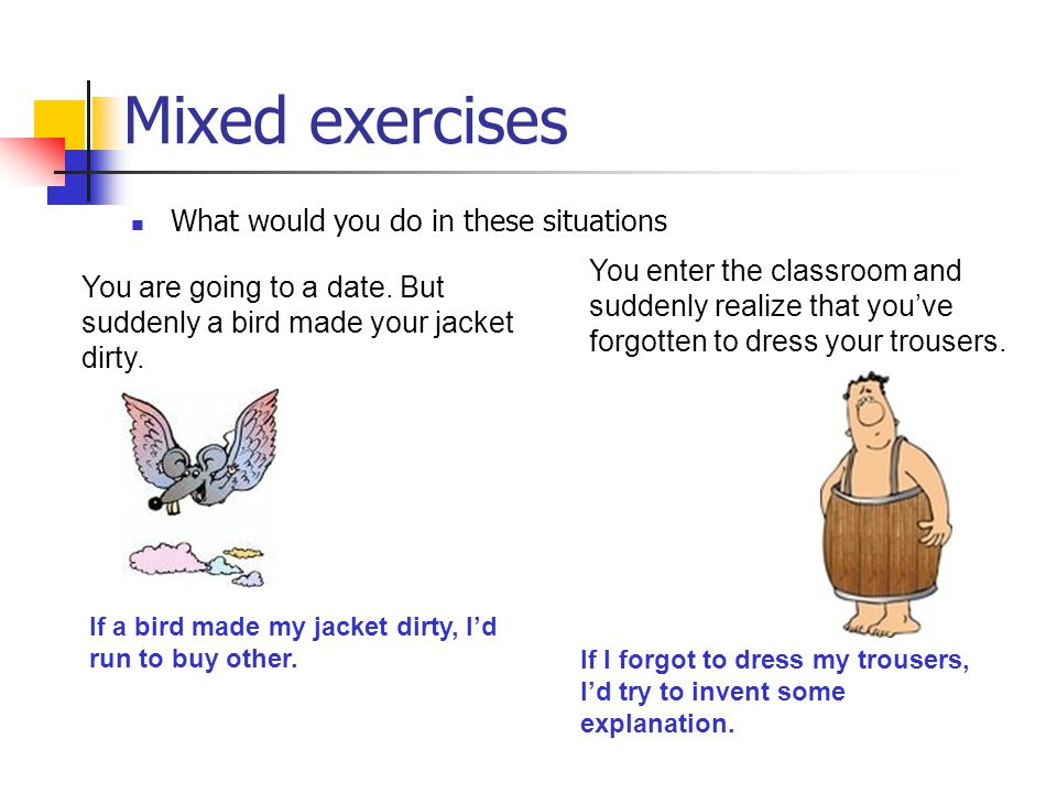 Mixed exercises What would you do in these situations