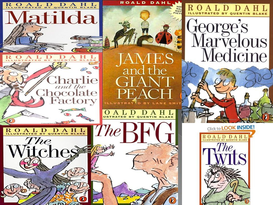 Pictures of the books that roald dahl wrote
