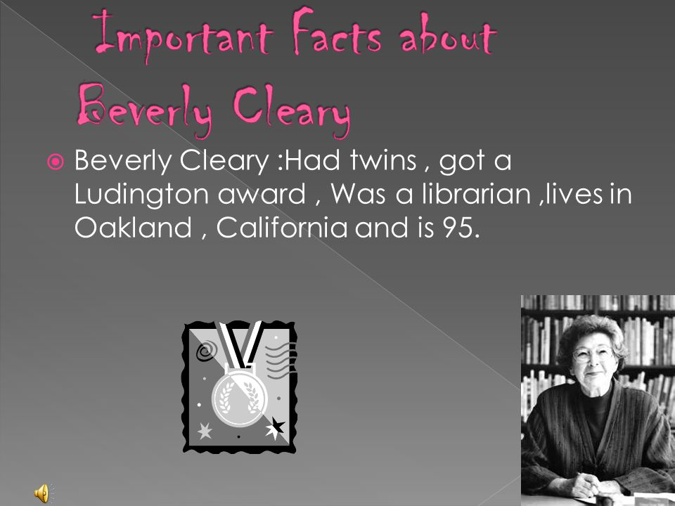 Important Facts about Beverly Cleary