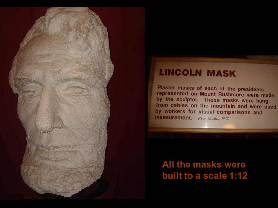 All the masks were built to a scale 1:12