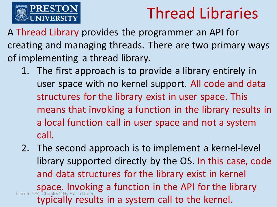 Thread Libraries