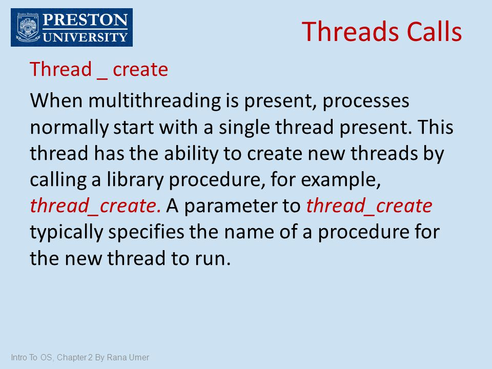 Threads Calls