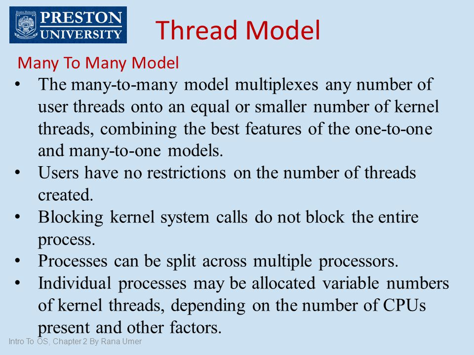 Thread Model Many To Many Model