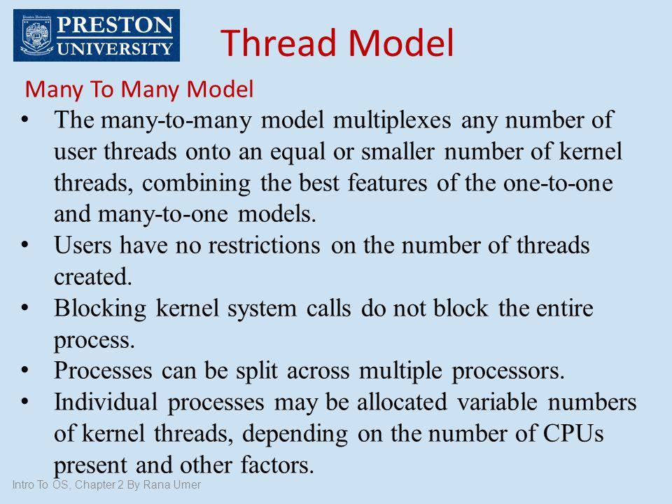 Thread Model Many To Many Model