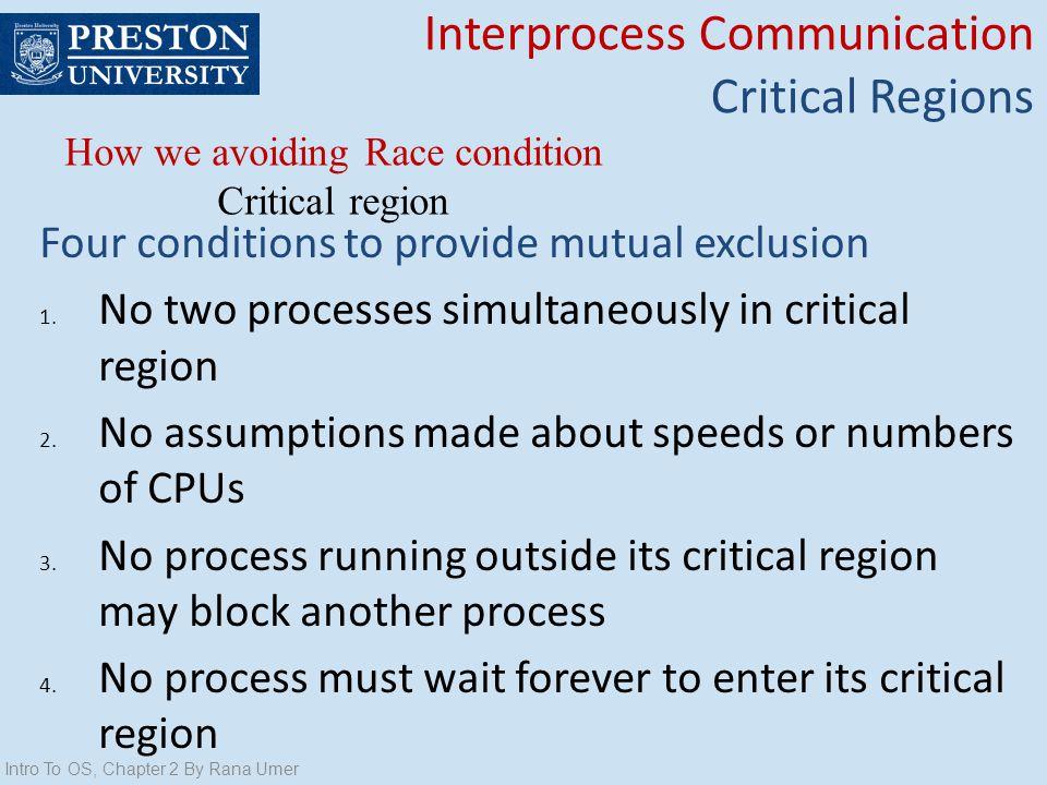 How we avoiding Race condition