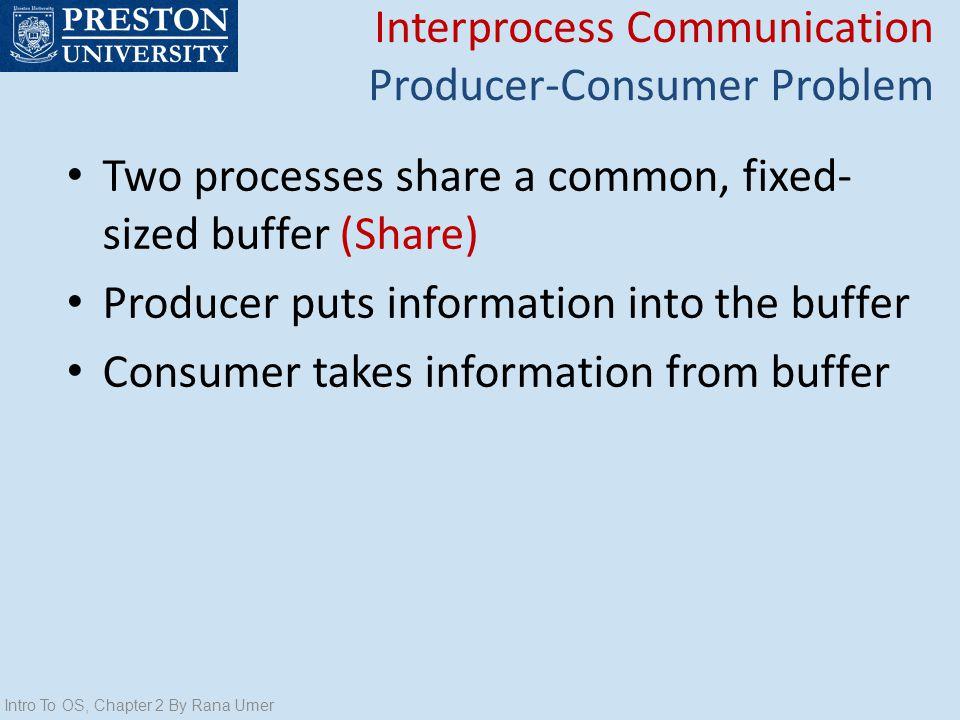 Interprocess Communication Producer-Consumer Problem