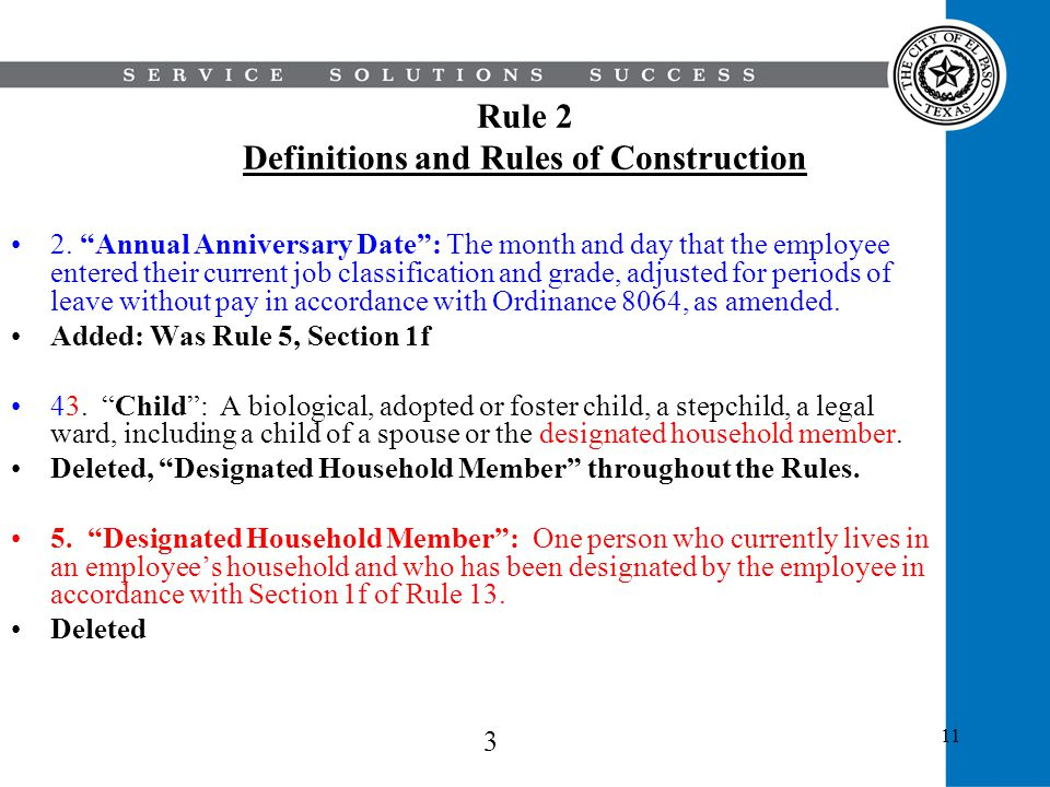 Rule 2 Definitions and Rules of Construction