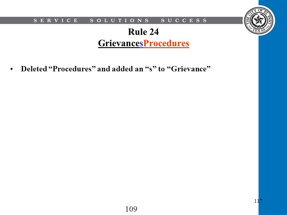 Rule 24 GrievancesProcedures