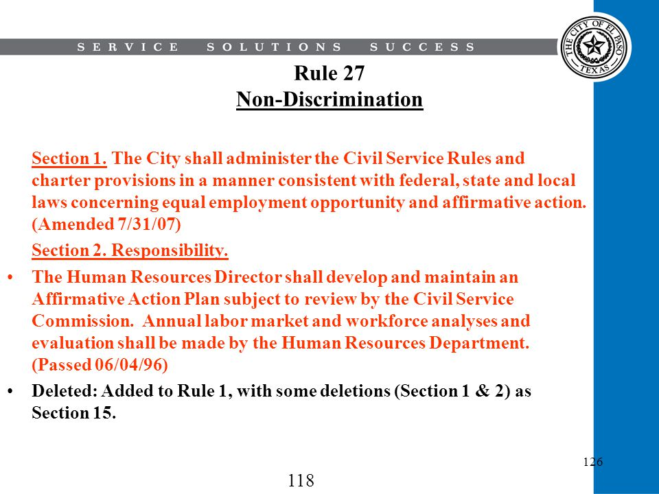 Rule 27 Non-Discrimination