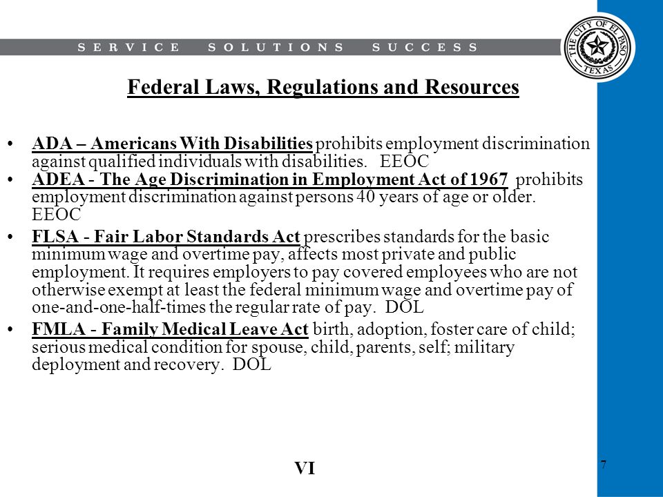Federal Laws, Regulations and Resources