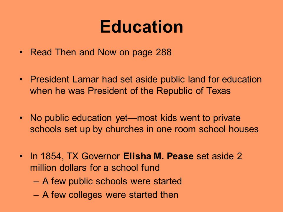 Education Read Then and Now on page 288