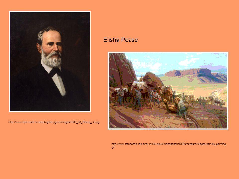 Elisha Pease http://www.tspb.state.tx.us/spb/gallery/govs/images/1989_36_Pease_LG.jpg.