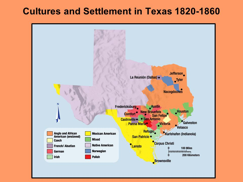 Cultures and Settlement in Texas 1820-1860