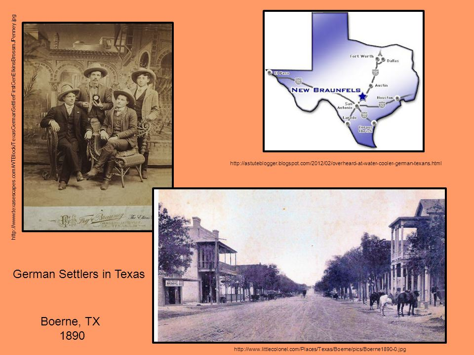 German Settlers in Texas