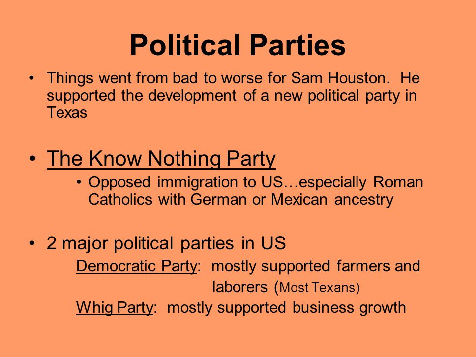 Political Parties The Know Nothing Party
