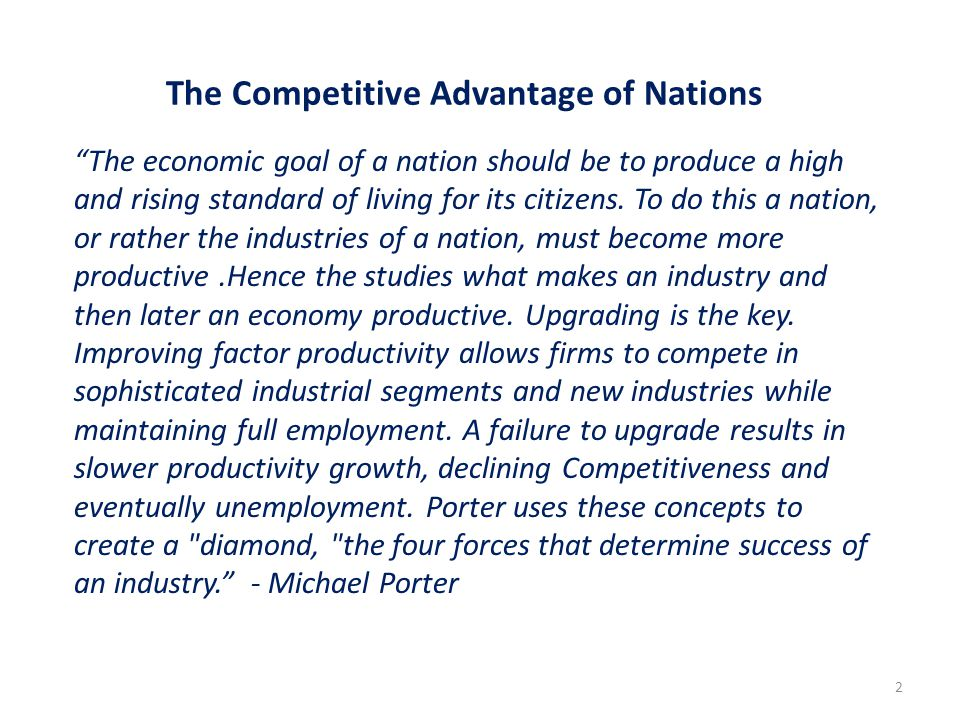 The Competitive Advantage of Nations