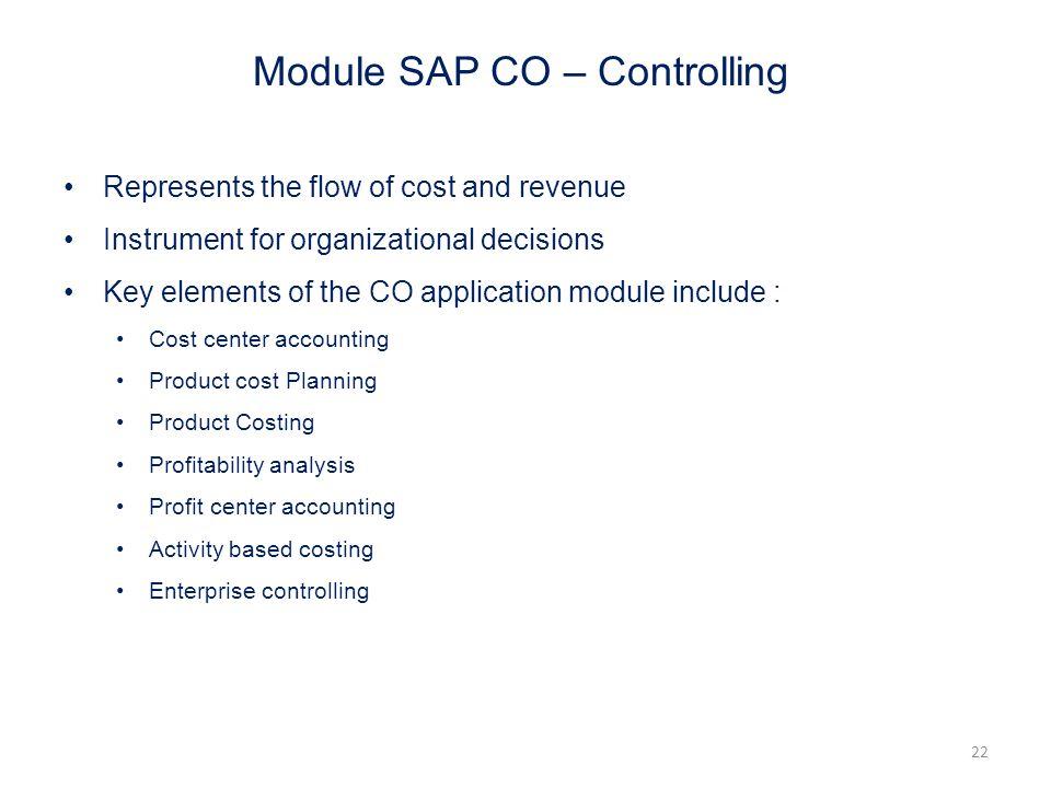 Module SAP CO – Controlling