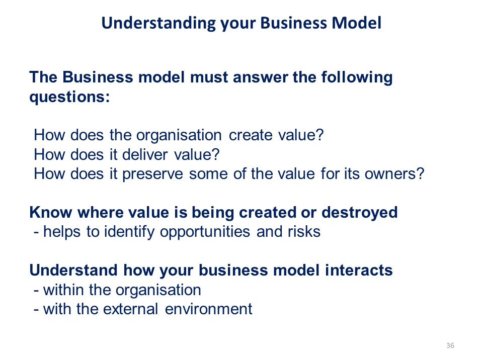 Understanding your Business Model