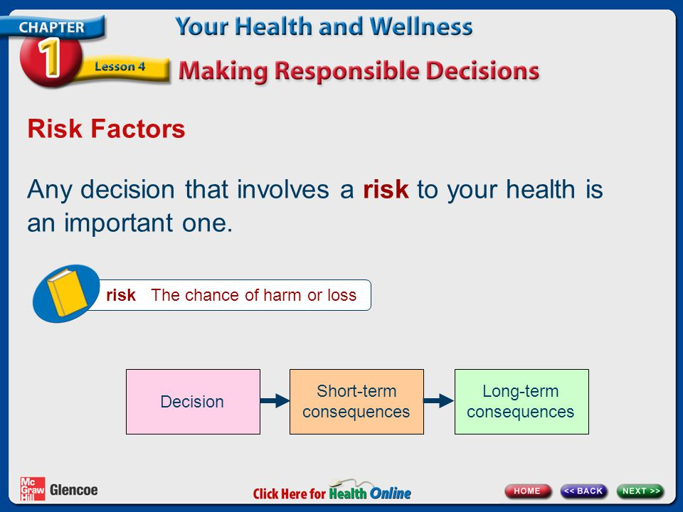 Any decision that involves a risk to your health is an important one.