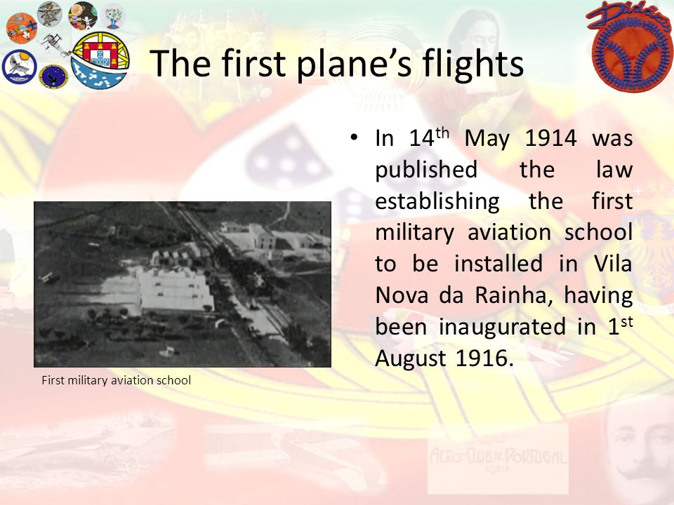 The first plane's flights