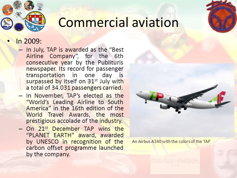 Commercial aviation In 2009: