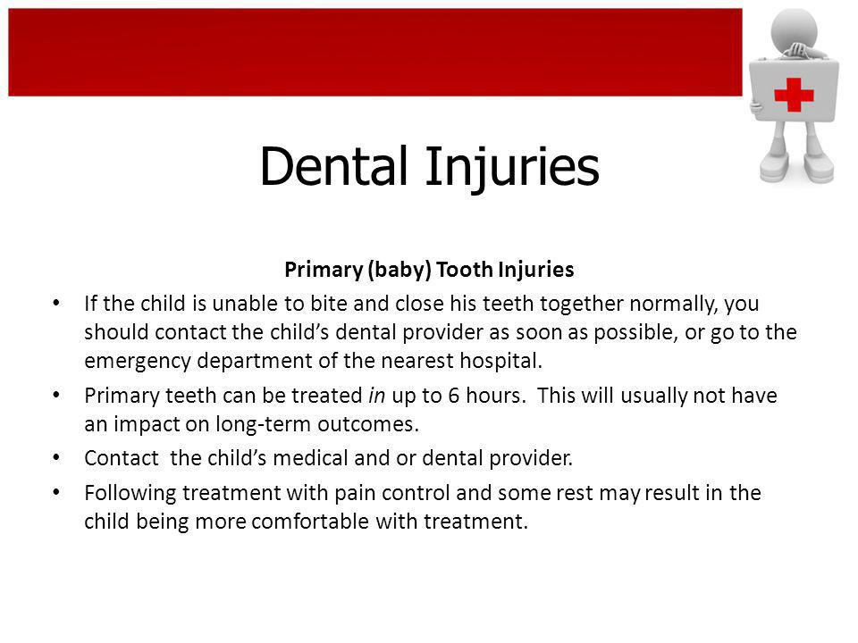 Primary (baby) Tooth Injuries