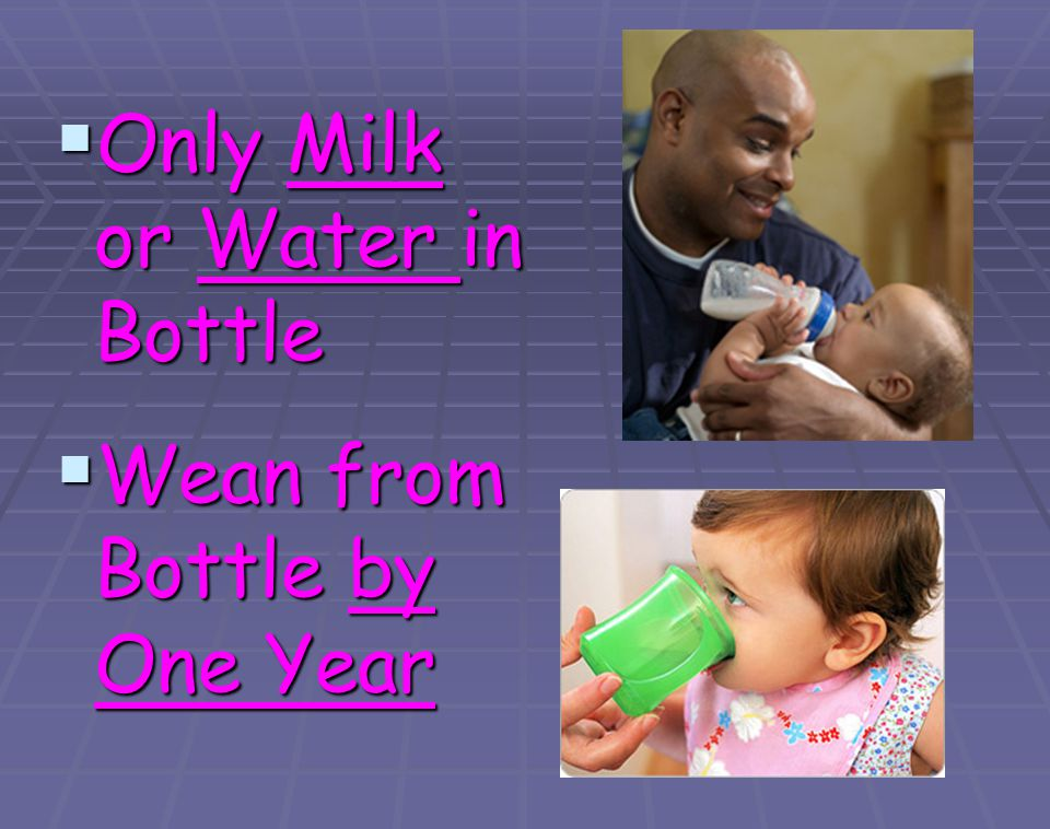 Only Milk or Water in Bottle
