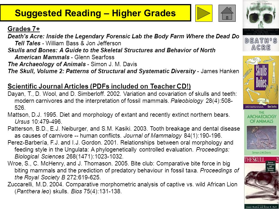 Suggested Reading – Higher Grades