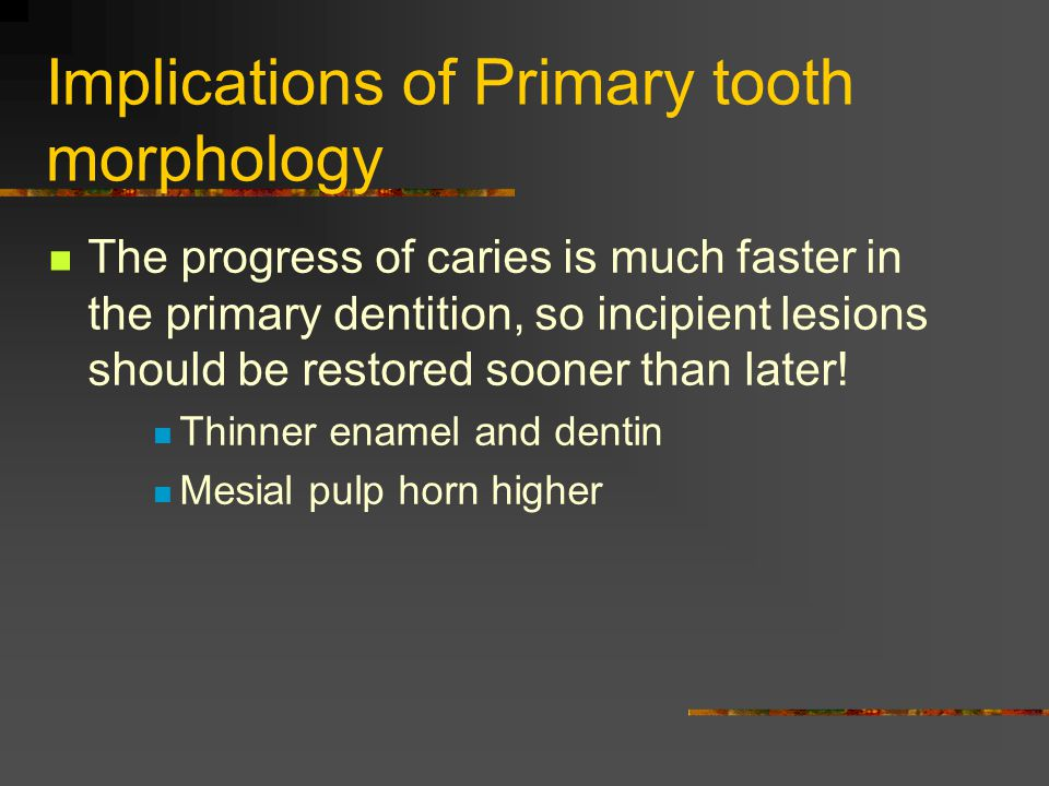 Implications of Primary tooth morphology