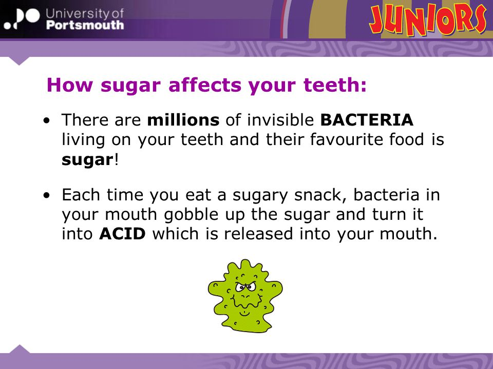How sugar affects your teeth: